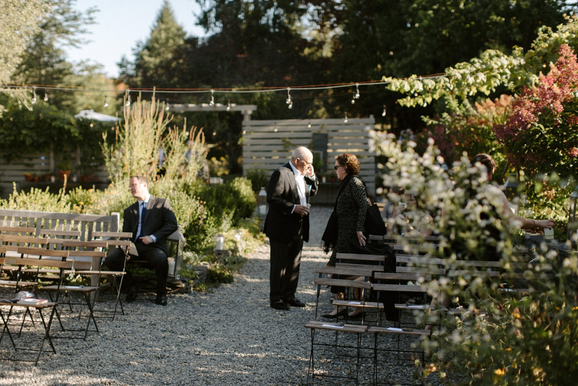 Guests before the wedding at M & D Farm