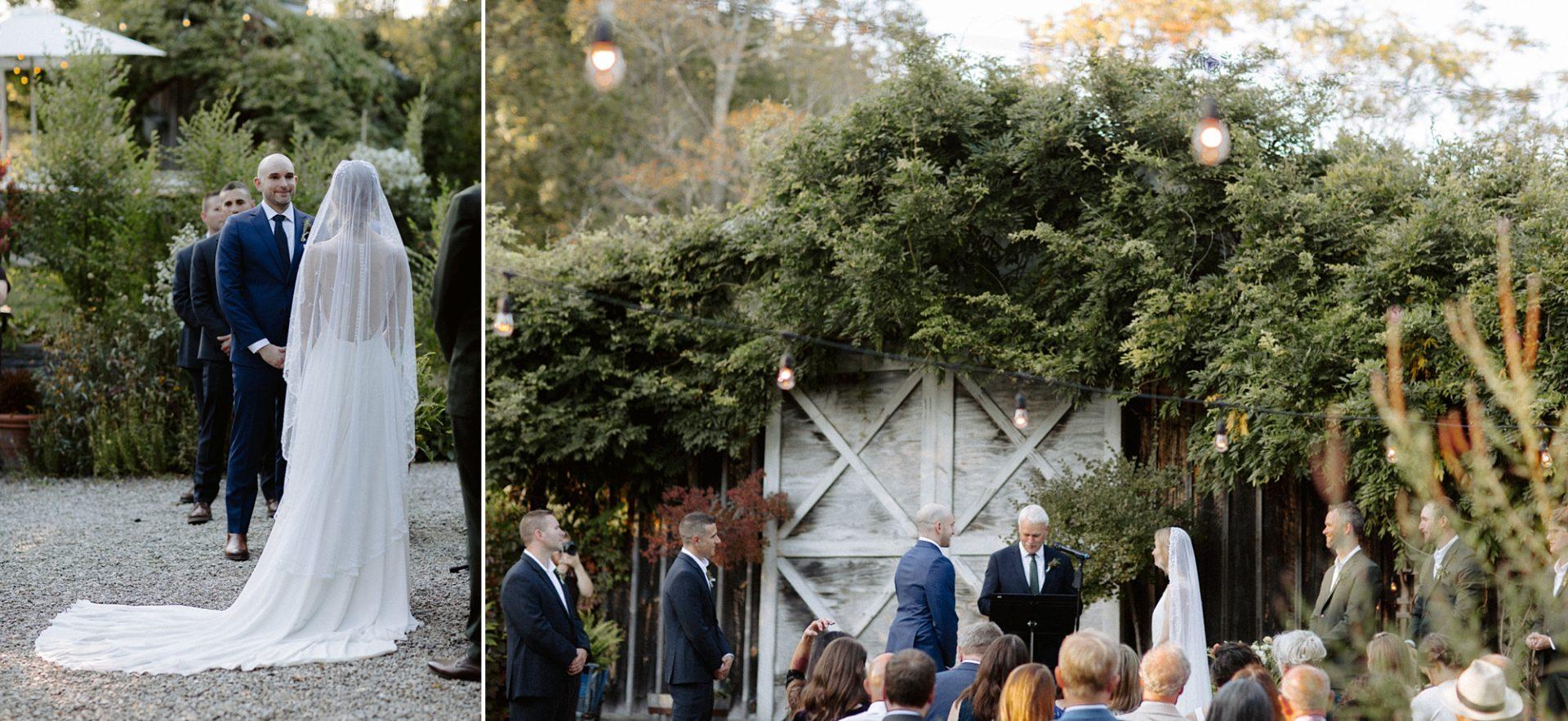 Wedding ceremony at M & D Farm